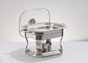 STAINLESS 4 QUART SQUARE CHAFING DISH