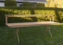8' Banquet table w/ Bar Riser