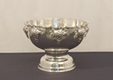 SILVER PUNCH BOWL WITH GRAPE MOTIF