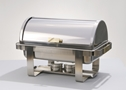 STAINLESS ROLL TOP CHAFING DISH, 8 QT.