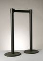 AISLE STANCHIONS, BLACK WITH 7' BELT